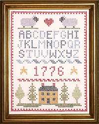 Americana Sampler Stamped On Kit