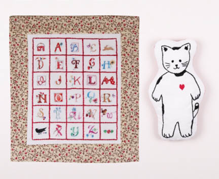 Kitty and Quilt Embroidery Kit