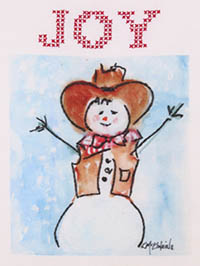 Cowboy Snowman by Kathleen McElwaine Embroidery Kit