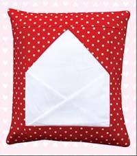 Sending My Love Envelope Pillow