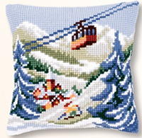 Alpine Scene Cushion