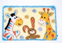 Furry Friends Latch Hook Rug Kit