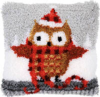 Christmas Owl Cushion Latch Hook Kit