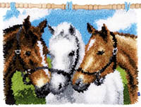 Horses Latch Hook Rug Kit
