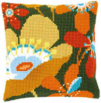 Retro Flowers Cushion Kit