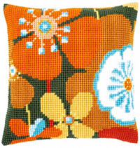 Retro Flower Cushion Kit