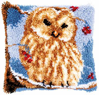 Owl Cushion Latch Hook Kit