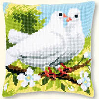 White Pigeons Cushion Kit