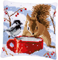 Squirrel & Tit Cushion Kit