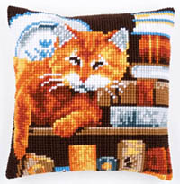 Cat & Book Cushion Kit