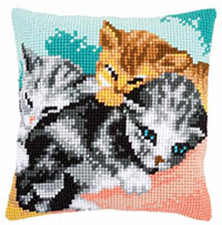 Cute Kittens Cushion Kit