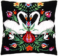 Zara the Swan Tapestry Cushion by a Maison Victor