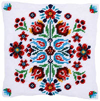 Folklore I Tapestry Cushion by a Maison Victor