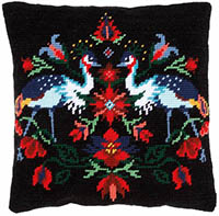 Camille the Crane Tapestry Cushion by a Maison Victor