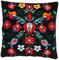 Folklore II Tapestry Cushion by a Maison Victor