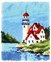 Lighthouse Rug Latch Hook Kit