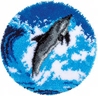 Dolphin Latch Hook Rug Kit