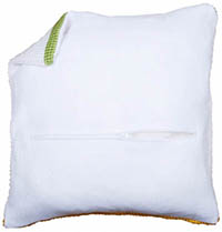 Cushion Back With Zipper - White or Black
