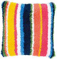 Bright Stripes Cushion Latch Hook Kit