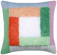 Palm Springs Color Blocks Cushion Latch Hook Kit