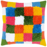 Boho Stripes Cushion Latch Hook Kit