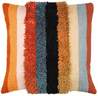 Boho Stripes Cushion Latch Hook & Chain Stitch Kit