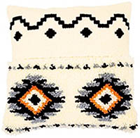 Ethnic Print Cushion Latch Hook & Chain Stitch Kit