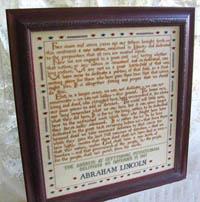 272 Words (Lincoln's  Gettysburg Address)