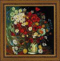 Still Life with Meadow Flowers & Roses After Van Gogh's Painting Kit