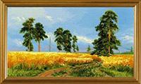 A Rye Field after I. Shishkin's Painting Kit