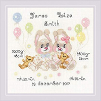 Twins Birth Announcement Kit