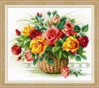 Basket with Roses Kit