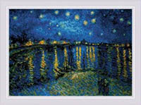 Starry Night Over The Rhone after Van Gogh's Painting Kit