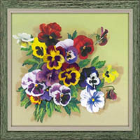 Pansies - Satin Stitch Kit