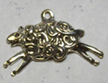 Sterling Leaping Lamb Charm