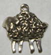 Sterling Standing Lamb Charm