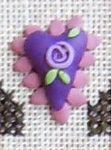 Purple Heart Button w/Pattern