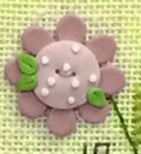 Pink Daisy Button w/Free Bless Ewe Pattern