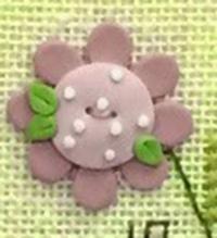 Pink Daisy Button w/Free Bless Ewe Pattern