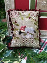 Santa Hat Button w/Joy to Ewe Chart