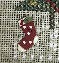 Polka Dot Stocking Button