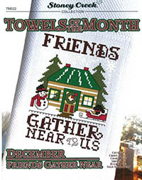 Towels of the Month - December Friends Gather Near