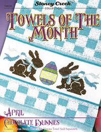 Towels of the Month - April Chocolate Bunnies