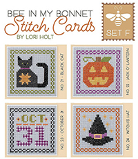 Bee in My Bonnet Stitch Cards - Set F