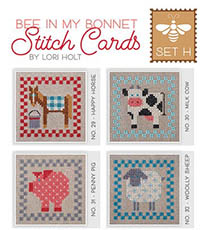 Bee In My Bonnet Stitch Cards - Set H