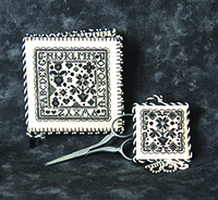 Tiny Blackwork Needlebook and Fob