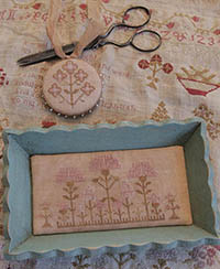 Snippets of Mary Barres Sampler - Small Sewing Tray & Pin Disk
