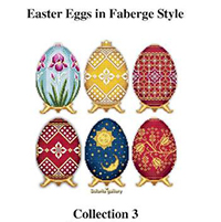 Easter Eggs in Faberge Style - Collection 3