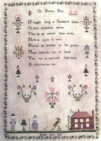 On Easter Day - Emma Rake 1810 Sampler