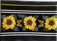 Sunflower & Butterflies Project Bag